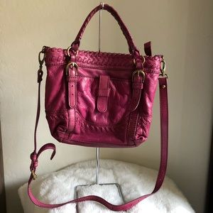 Isabella fiore pink leather Crossbody